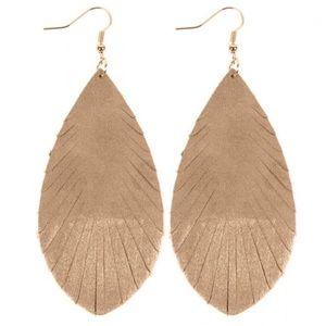Fringe Leather Drop Earrings